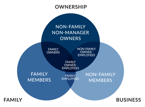 A Venn diagram of the Expanded Three-Circle Model of the Family Business System